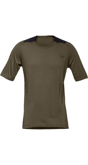Norrøna Skibotn Wool Equaliser T-Shirt Men Dark Olive